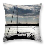 Morning Sail Throw Pillow