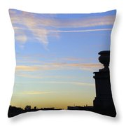 Morning Silhouette Throw Pillow