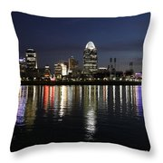 Morning Skyline Wo Bridge I Throw Pillow