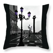 Morning - St. Mark's Square Throw Pillow
