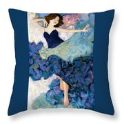 Morning Stretch Throw Pillow