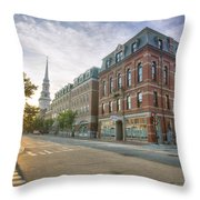 Morning Stroll Throw Pillow by Eric Gendron