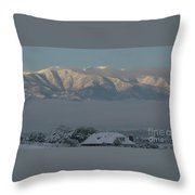 Morning Sun On Utah Mountains Throw Pillow