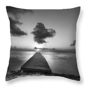 Morning Sunrise By The Dock Throw Pillow