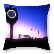 Morning Sunrise In Hermosa Beach Throw Pillow