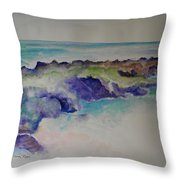 Morning Surf Throw Pillow