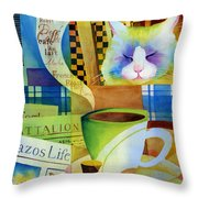 Morning Table Throw Pillow