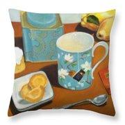 Morning Tea Throw Pillow