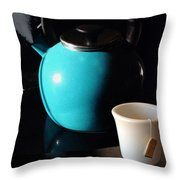 Morning Tea Two Throw Pillow