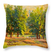 Morning Through The Trees Throw Pillow