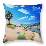 Joshua Tree Morning To Night Throw Pillow