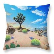 Joshua Tree Morning To Night Throw Pillow