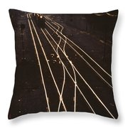 Morning Train Throw Pillow