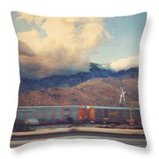 Morning Train Throw Pillow by Laurie Search