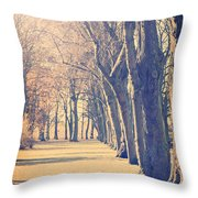 Morning Trees Throw Pillow