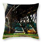 Morning Under The Bridge Throw Pillow