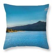 Morning View Of Cascade Reservoir  Throw Pillow