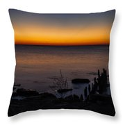 Morning Water Colors Throw Pillow