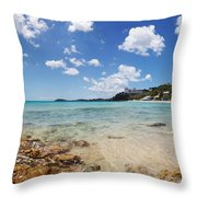 Morningstar Beach Throw Pillow by Jo Ann Snover