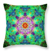 Moroccan Lace Mandala Throw Pillow