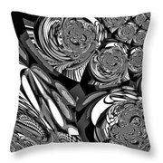 Moroccan Lights - Black And White Throw Pillow