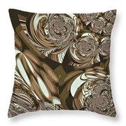 Moroccan Lights - Brown Throw Pillow