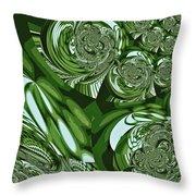 Moroccan Lights - Green Throw Pillow