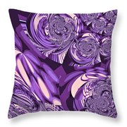 Moroccan Lights - Purple Throw Pillow