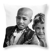 Moroccan School Boys Throw Pillow