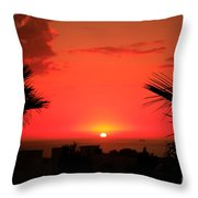 Moroccan Sunset Throw Pillow