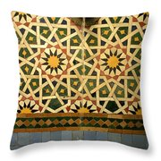 Moroccan Water Fountain Throw Pillow