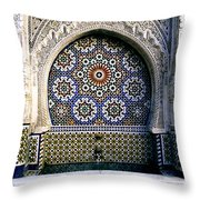 Moroccan Well Throw Pillow
