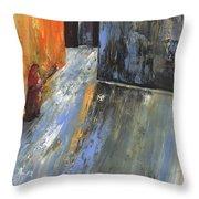Moroccan Woman 01 Throw Pillow
