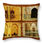 Morocco Heritage Poster 01 Throw Pillow by Catf