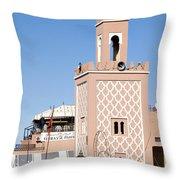 Morocco Mosque Throw Pillow