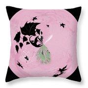 Morphed Art Globe 10 Throw Pillow by Rhonda Barrett