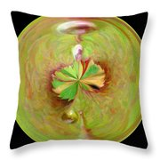 Morphed Art Globe 21 Throw Pillow by Rhonda Barrett