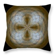 Morphed Art Globe 24 Throw Pillow