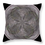 Morphed Art Globe 26 Throw Pillow