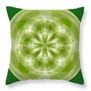 Morphed Art Globe 27 Throw Pillow by Rhonda Barrett