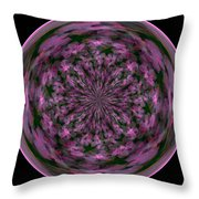 Morphed Art Globe 28 Throw Pillow