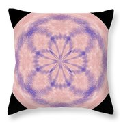 Morphed Art Globe 33 Throw Pillow by Rhonda Barrett
