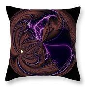 Morphed Art Globe 39 Throw Pillow by Rhonda Barrett