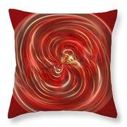 Morphed Art Globe 41 Throw Pillow