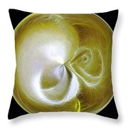 Morphed Art Globe 8 Throw Pillow