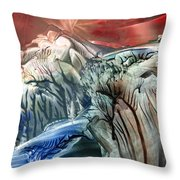 Morphing Obscure Horizons Into Shifting Emotions Throw Pillow