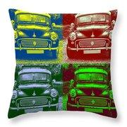 Morris Car In Pop Art Throw Pillow