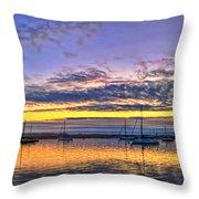 Morro Bay Panorama Throw Pillow