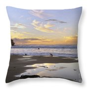 Morro Rock Park Throw Pillow