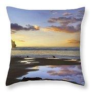 Morro Rock Reflection Throw Pillow